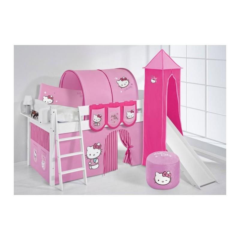 comprar cama corcega con tobogan cortinas hello kitty rosa y somier