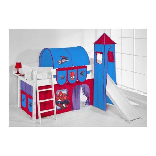 comprar cama corcega con tobogan cortinas spiderman y somier