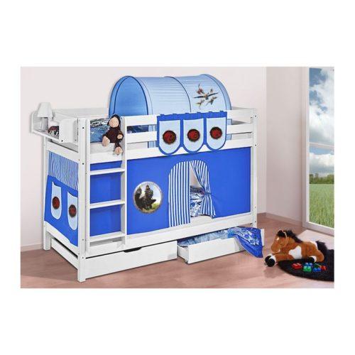 comprar litera capri con cortinas dragon azul y somieres
