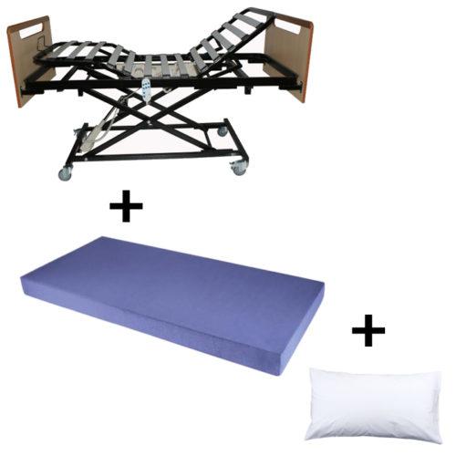 comprar pack carro elevador ortopedico roma colchon sanimax almohada fibra