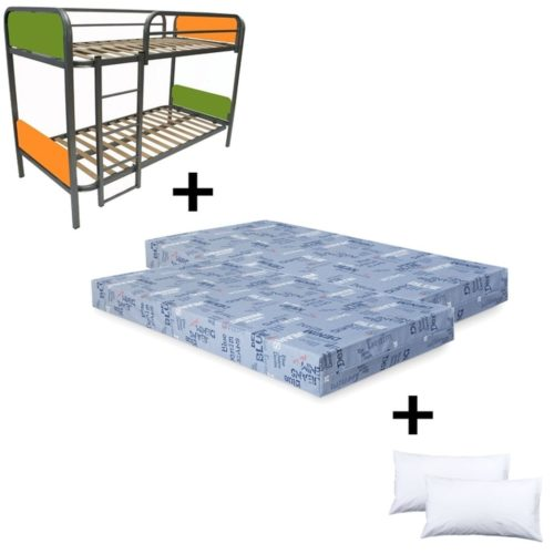 comprar packs comprar pack litera color 2 colchones espuma himalaya regalo 2 almohadas de fibra